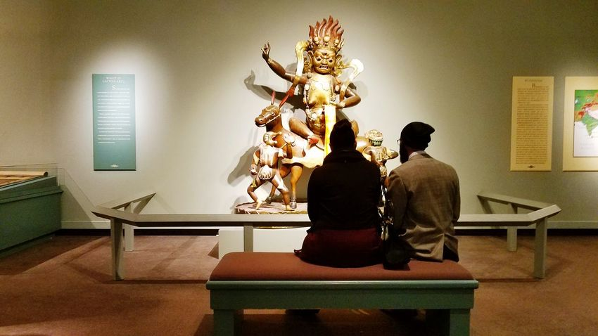 YYC Art Gallery Art Of Asia Indoors  Two People Adult Sitting Adults Only People Home Interior Luxury Togetherness Friendship