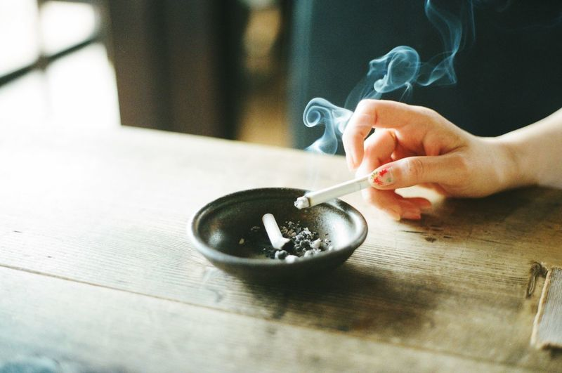 Human Hand One Person Real People Human Body Part Smoke - Physical Structure Indoors  Close-up Day People EyeEm Japan Film Photography Filmcamera