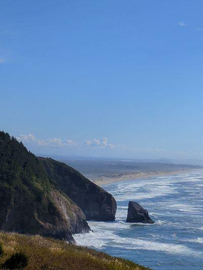 Oregon Coast Ocean Coast Coastline Cliffs Color Cliffside