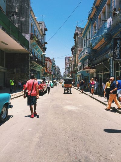 Neptuno, Cuba Cuba Building Exterior Architecture Built Structure Real People Men Walking Day Lifestyles Street City