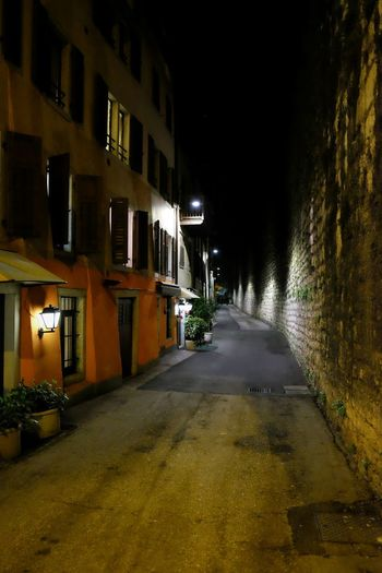 Walkig Around streets of Trento By Night // Night Architecture Illuminated Built Structure Building Exterior The Way Forward City No People Outdoors FUJIFILM X-T10 XF18-55mmF2.8-4 R LM OIS ISO 6400 F/2.8 1/52 Sec via Fotofall