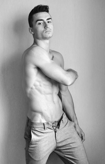 Male fashion model Fit Blackandwhite Model Pose Model Beautiful Smooth Topless, Model Boy Man
