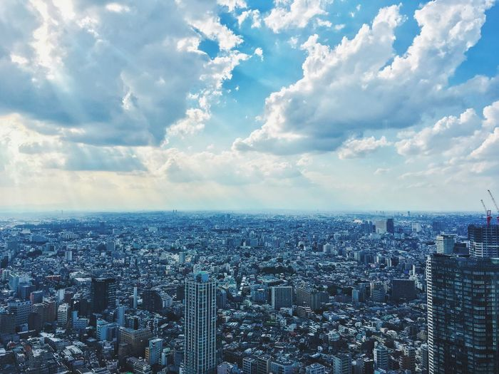 Sky City Cityscape Architecture High Angle View Cloud - Sky Skyscraper Modern Tokyo Tokyo,Japan Japan The Street Photographer - 2018 EyeEm Awards