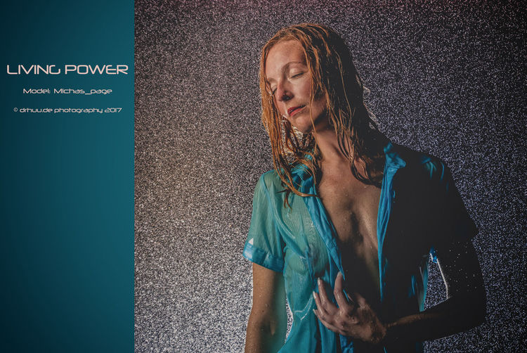 Title: Living Power Model: michas_papes Photo: drhuu.de photgraphy #Studio #indoors #sensuality #sexy #showerflow #wetlook Beautiful Woman Beauty Long Hair One Person