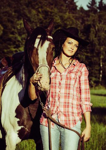 Beautiful Indiansummer Summer Cowgirl Nature Mecklenburg-Vorpommern Meadow