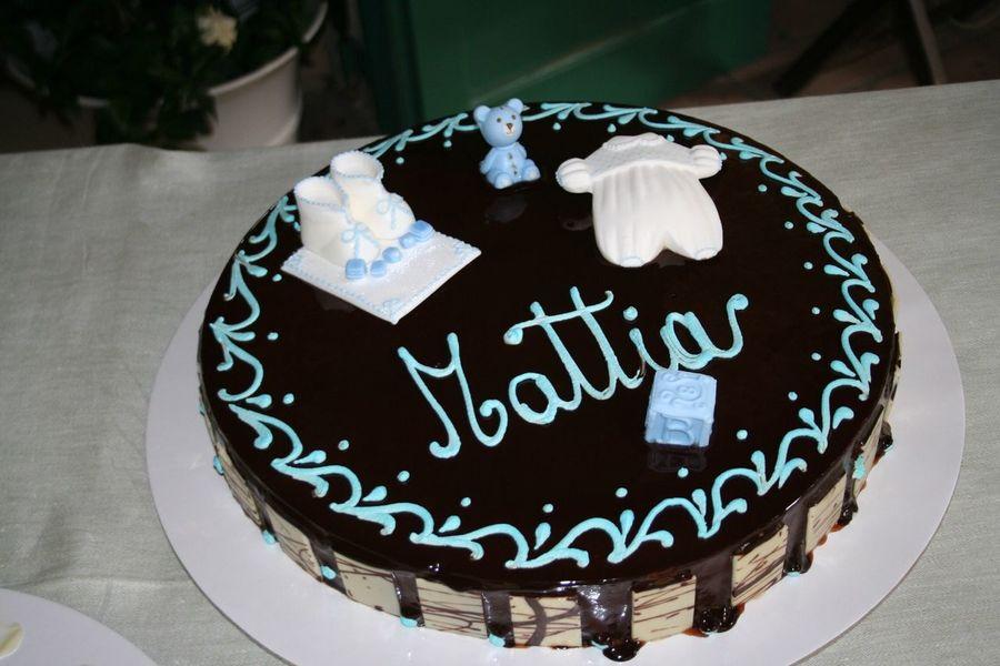 Baptism Cake Choccolate Sweet