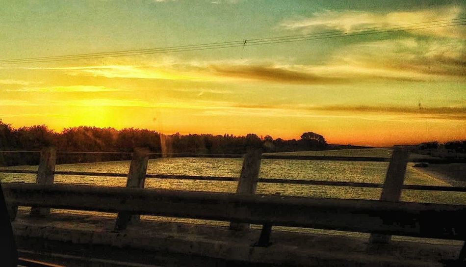 SunSay Oldphoto First Eyeem Photo EyeEm Best Shots Nature_collection Naturelover Intheroute Fromthecar Capture The Moment Beatiful Traveling Banister Lagoon Water Sun 🌅