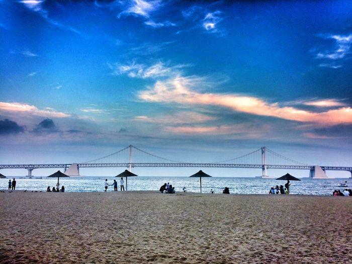 Life Is A Beach Bridge Sea And Sky Trip Went to Busan, Korea.