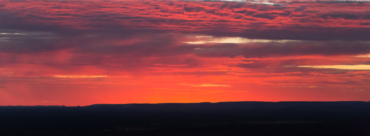 Burning sky. Sunrise in the australian outback. Beauty In Nature Burning Burning Sky Cloud - Sky Dramatic Sky Landscape Mountain Range Mountain Silhouette Nature No People Orange Color Outback Outdoors Red Scenics Silhouette Sky Sunrise Tranquil Scene