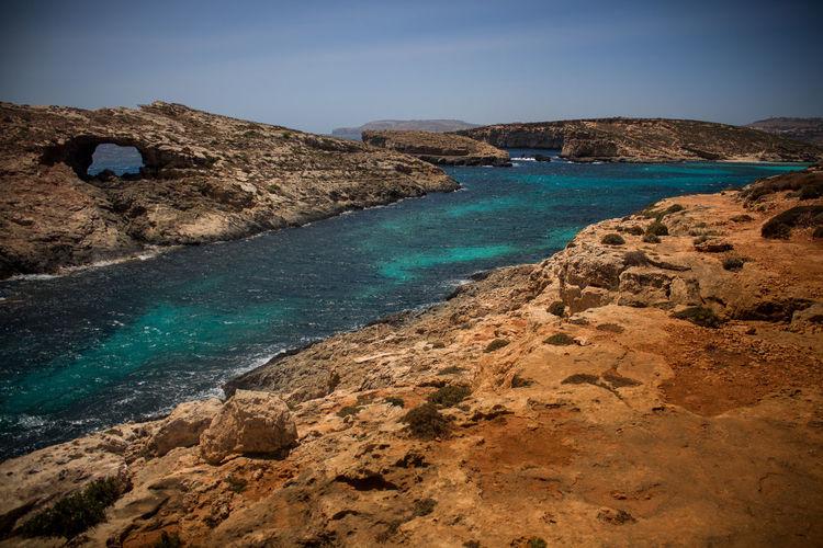 Blue Bluelagoon Clear Sky Day Landscape Malta Maltaphotography Malta♥ Nature No People Outdoors Sky