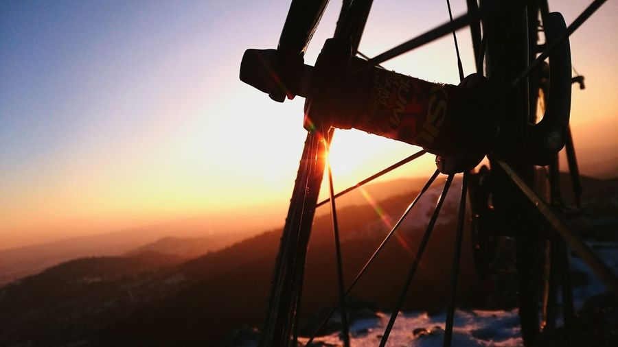My bicycle and I, on the hill Winter Show Bicycle Cycling Cyclocross Hill Hanging Out Taking Photos Check This Out Relaxing Sunset Beautiful
