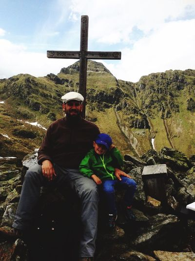 At top of the Nassfeldriegel in Kärnten, Austria. With my three yrs old son. He walked all the way Up and down. Mountainclimberstyle My Unique Style