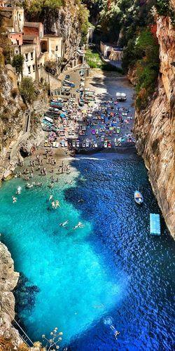 Fiordo di furore Amalfi Coast Furore Naples Sea HDR Wide Shot Sorrento Amalfi  Maiori Minori Swimming Pool Water High Angle View Day Outdoors No People Nature First Eyeem Photo EyeEmNewHere