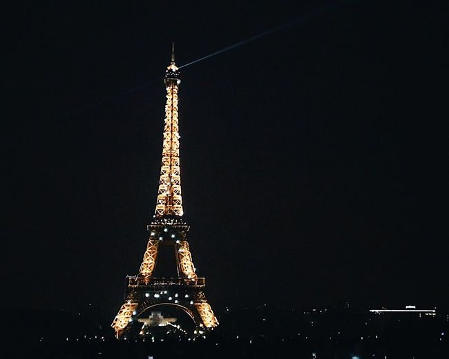 Nights goals! Tower Tall - High Architecture Built Structure Travel Destinations Architectural Feature Metal Tourism Travel No People Night History Outdoors Low Angle View City Building Exterior Sky Illuminated Iphonecamera IPhoneography