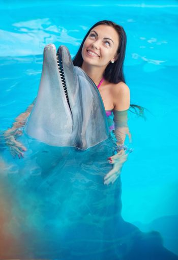 Things I Like Swimming Pool Dolphin Fish Odessa Girl Animal Nature