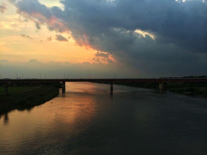 撤収なう IPhoneography Clouds And Sky In Train
