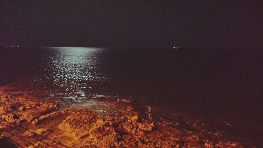 Lungomare Pozzallo Sicilia Notte Lunapiena