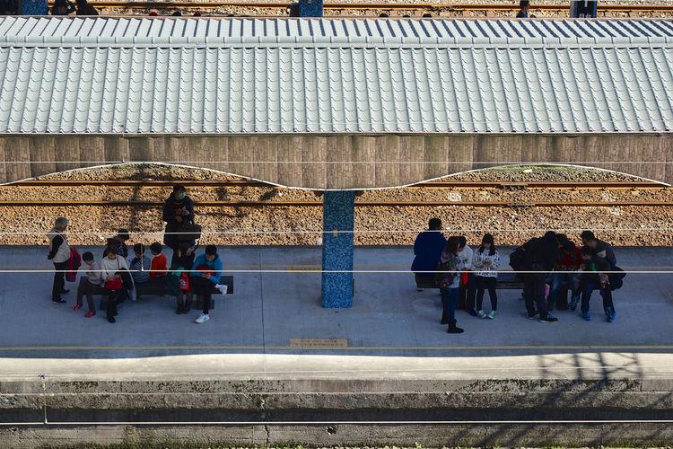 Canopy Cat Village People Train Tracks