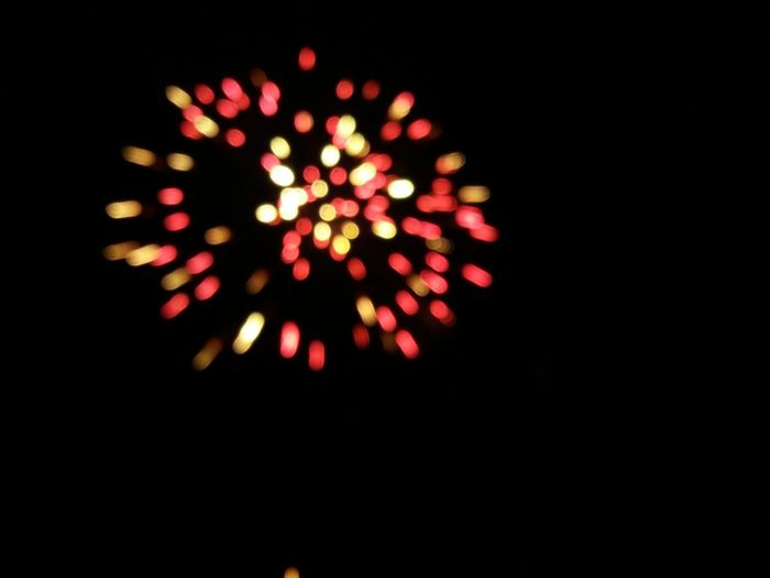 A new world... Fireworks In The Sky A New Year Desenfoque Red On The Edge No People Black Background Close-up