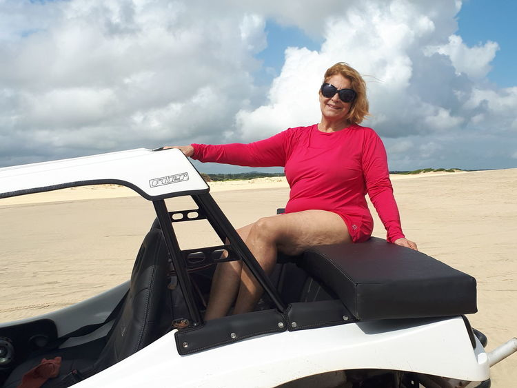 EyeEm Selects Water Sea Women Full Length Summer Nautical Vessel Sitting Sunglasses Sky Cloud - Sky Sand Dune Sand Shore
