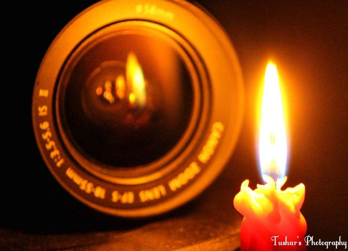 Flame Burning Candle Heat - Temperature Glowing Indoors  Close-up Illuminated No People Diya - Oil Lamp Canon700D