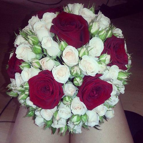 свадебныйбукет розы букет