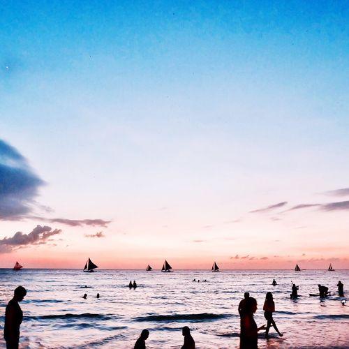 Sunset Boracay 💞 Boracay Island, Philippines Boracay BoracayIsland Boracay, Philippines