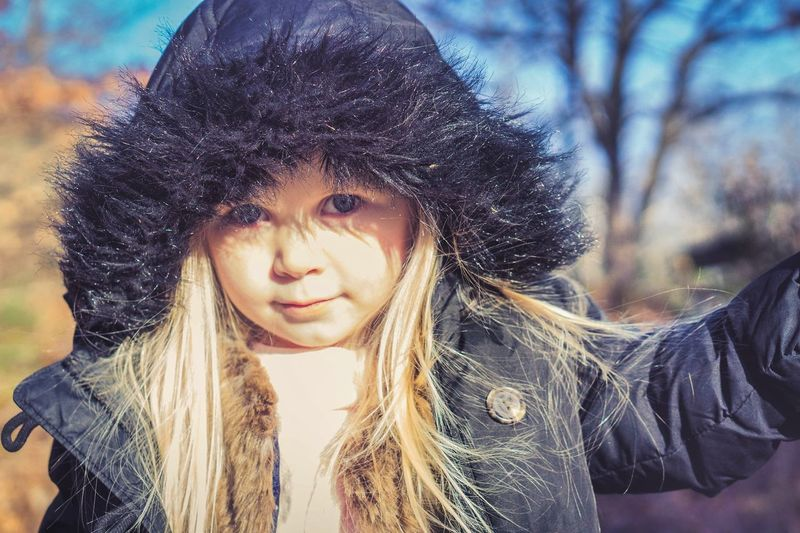 Warm Clothing Portrait Child Beautiful Woman Beauty Cold Temperature Winter Beautiful People Girls Childhood