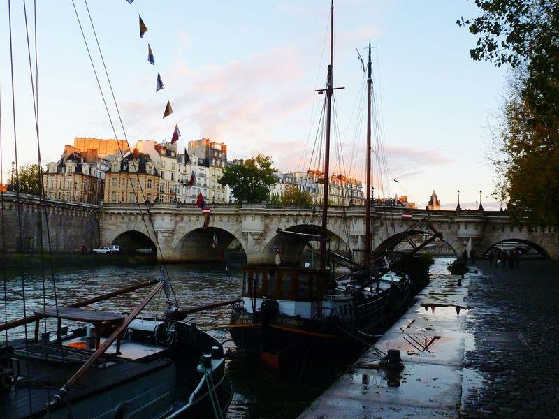 France Paris River Seine Boats