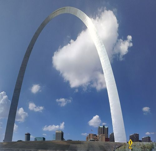 Stlouis Stlouismissouri Stlouisarch Cloud - Sky Outdoors Missouri Missouriphotography Low Angle View Blue Sky Gateway Arch Gatewayarch Gateway Arch St. Louis, MO