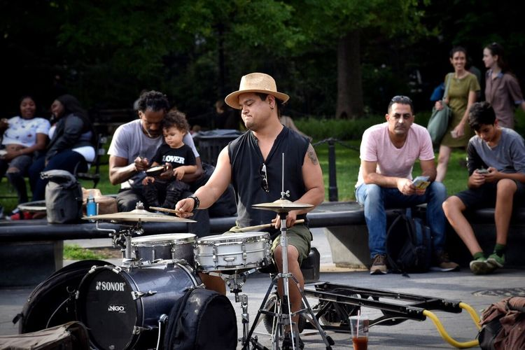 Drums Drummer NYC NYC Photography NYC Street Photography Outdoors Washingtonsquarepark People