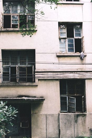 Film Window Building Exterior Architecture Built Structure Building Outdoors Balcony Residential Building No People Day Plant Architectural Style Exterior Window Box Canon Ae-1