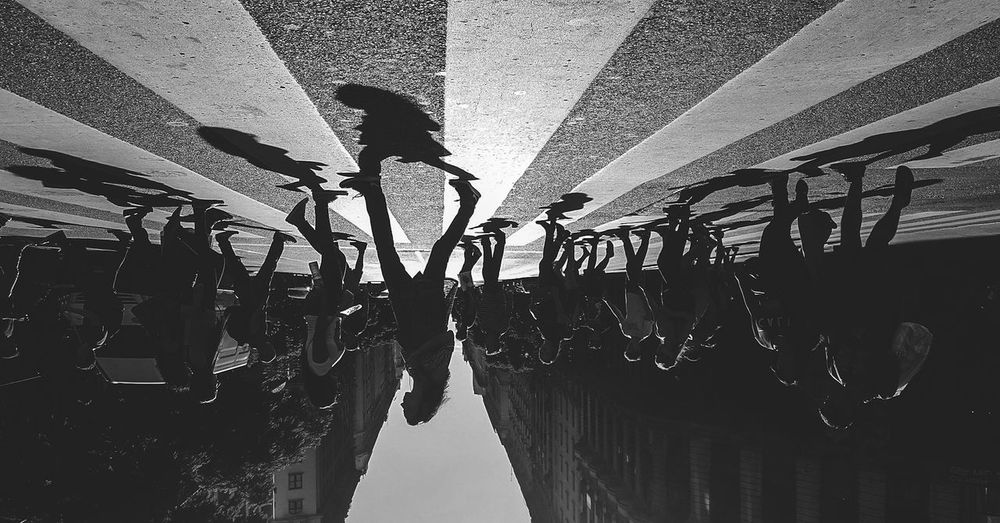 Hanging Silhouette Day Outdoors No People Sky City Steps Staircase Travel Destinations Building Exterior Cityscape Urban Skyline People Built Structure Reflection Adventures In The City The Street Photographer - 2018 EyeEm Awards