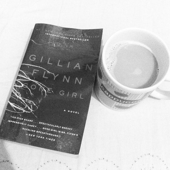 Day 3 of Blackandwhitechallenge : Two things i love to do most especially when the weather is rainy and cold, is reading and drinking coffee. Pero naknampochi dami ko di natatapos basahin and dami nila! Gonegirl Book Novel booknerd bedweather cozy