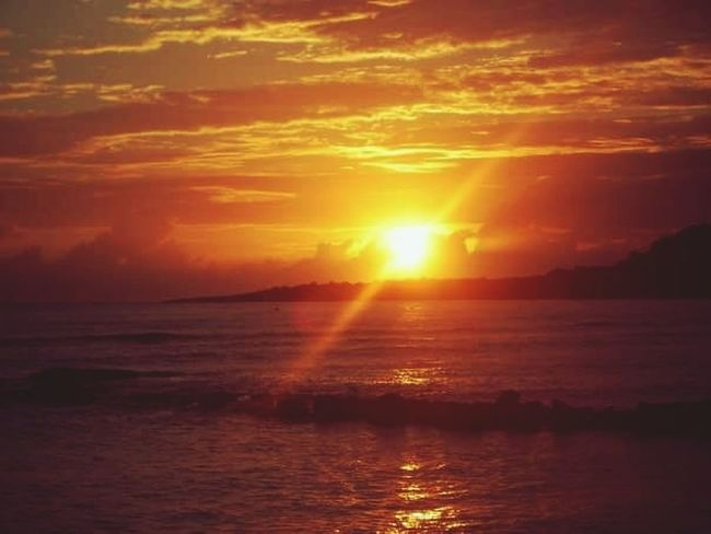sunset An Eye For Travel Sunset Sea Scenics Sun Beauty In Nature Tranquil Scene Outdoors Sunlight Tranquility Idyllic Horizon Over Water No People Sky Travel Destinations Vacations