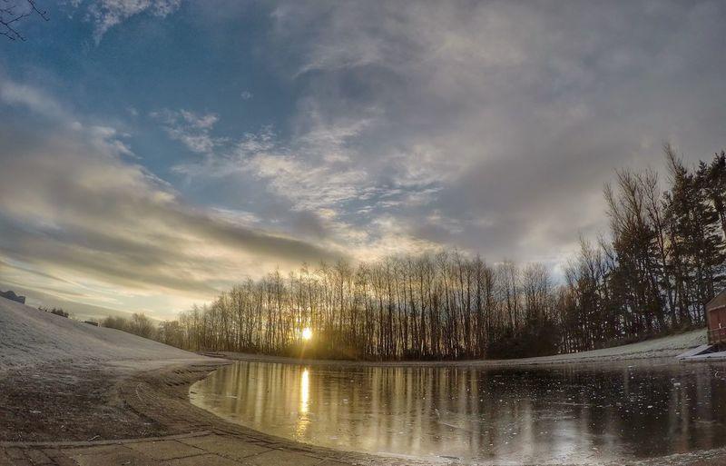 Frozen pond Camperdown Park Scottishrowan Gopro Dundee It's Cold Outside