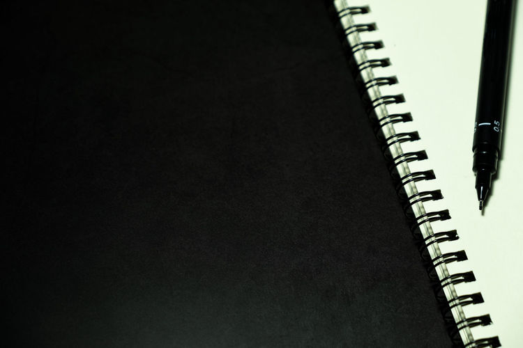 blank page notebook and pen against dark background Notebook Pen Background Dark Empty White Paper Page Note Blank Book Business Space Document Pad Diary Open Object Office Template Education Message Sheet NotePad Texture Design Concept Copy School Notepaper Drawing Letter Clean Sketch Textbook Text Write Copy Space Table Spiral Notebook Spiral