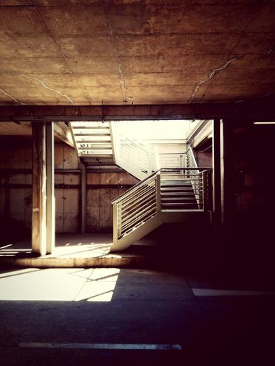 Stairs StairwayUnderground Parking I Love My City Light And Shadow Going Up Urban Geometry Streetphotography New Years Resolutions 2016 i resolve to use the Stairs more and Not The Lift. figuratively i will take the Road Less Travelled Underground Art Is Everywhere