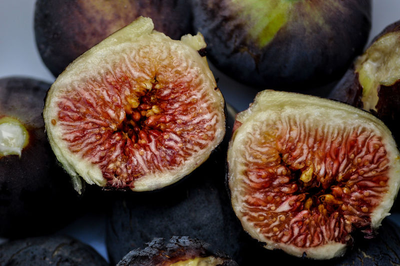 Fresh fig cut