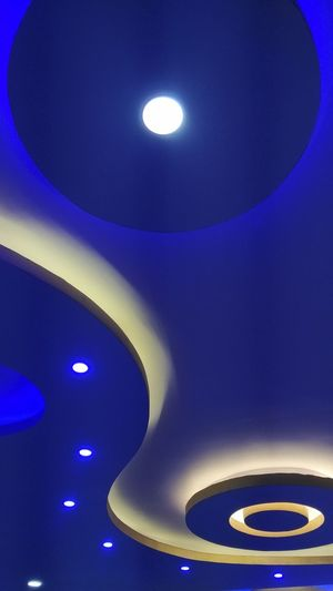 Photography ♥ Bangaluru India Click Click 📷📷📷 Rooftop Roof Design Roof Blue Blue Lights  Nofilter No Filter Blues Shelter Shelters Shelter Of House New Construction EyeEmNewHere Indoor Photography IndoorPhotography Indoor Only Indoor Indoor Lighting Indoorlight RandomShots Only Cement