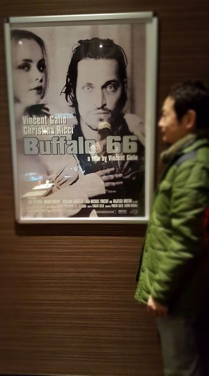 STAR WARS 観に来たけどBuffalo66のポスター前で撮影してみた! Vincent Gallo Buffalo66 Movie Theater Young Adult Adults Only Night People Indoors  Men