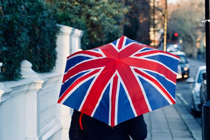 Union Jack flag Umbrella British Culture British Weather LONDON❤ London London Lifestyle Rain Rainy Days Union Jack Umbrella United Kingdom Weather Winter Brexit Climate Multi Colored Outdoors Pavement People And Places Street Photography Streetphotography Uk Umbrella Umbrellas Union Jack Flag
