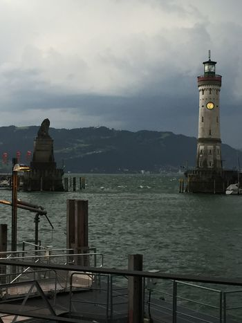 Hafen Leuchtturm Lindau Lindau Bodensee Architecture Beauty In Nature Bodensee Lighthouse No People Sea Sky Water