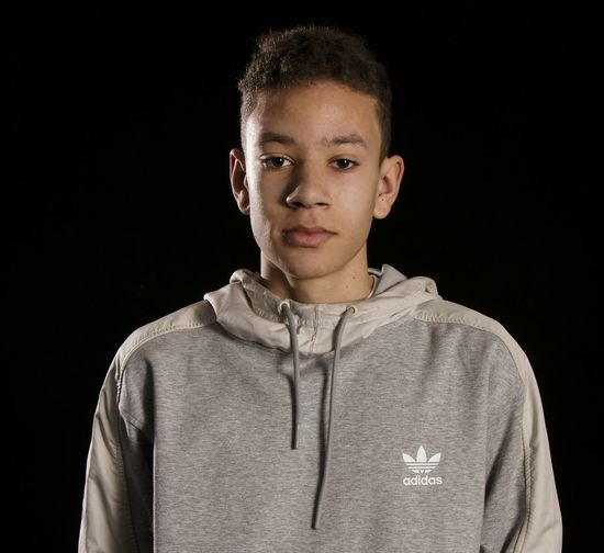 Adidas Portrait Looking At Camera Black Background Child Children Only Sweater Front View One Person Confidence  People Childhood Studio Shot Looking At Camera Dark Model Mature Adult Fashion Studio Adidas Adidasoriginals Adidas Originals Portrait Photography Studio Photography One Man Only Young Adult