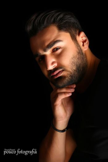 Vertical Young Adult One Young Man Only Only Men Portrait Young Men Handsome Person One Person Looking At Camera Black Background Beautiful People Headshot Shirtless People Muscular Build Youth Culture Lifestyles Adult PouriaNaseri© PoucoFotografia© Studio Shot Boys BestEyeemShots