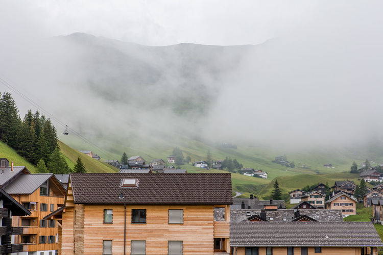Building Building Exterior Calm Clouds Liechtenstein Mountainous Mountains Tranquility Village