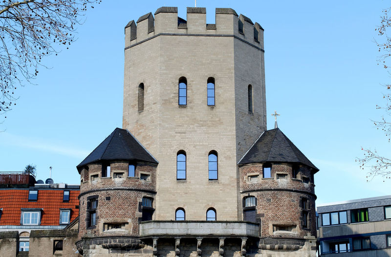 City Wall Cologne , Köln,  Historical Building Historical Monuments Architecture Building Exterior Built Structure Castle Citywall Clear Sky Day History Severinstorburg Südstadt Travel Destinations