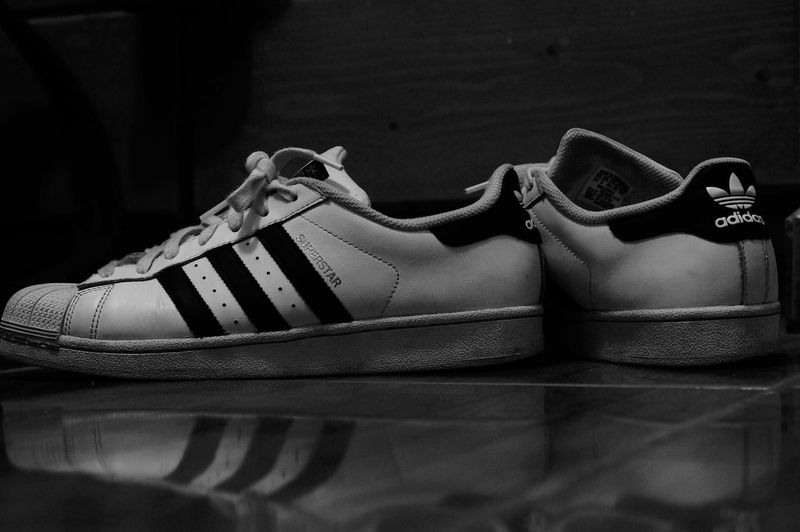 Supertar | Adidas Originals Supertar Adidassupertar Black & White Black And White Blackandwhite Randomshot Street Photography Indoors  Sneakers Mine Artistic Photography