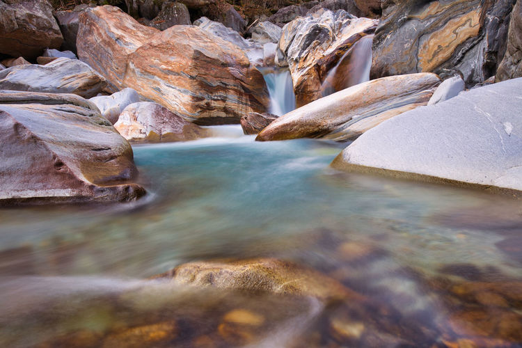 Rock formations in water