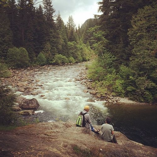 Another nice walk in LYNN Canyon can't wait for big guys this Summer Hike vancouver northshore